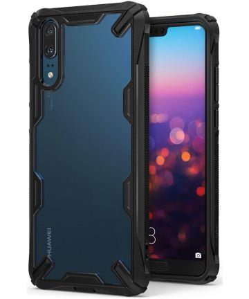 Ringke Fusion X Huawei P20 Hoesje Doorzichtig Black