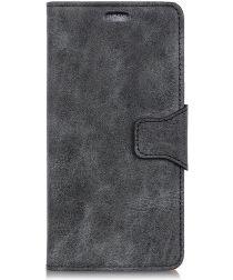 Samsung Galaxy A6 Vintage Portemonnee Hoesje Zwart