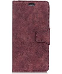 Samsung Galaxy A6 Vintage Portemonnee Hoesje Rood