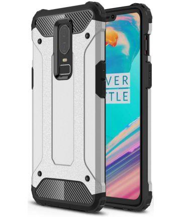 OnePlus 6 Hybride Hoesje Zilver