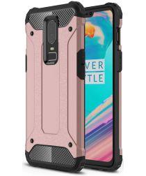 OnePlus 6 Hybride Hoesje Roze Goud