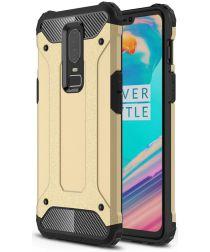 OnePlus 6 Hybride Hoesje Goud