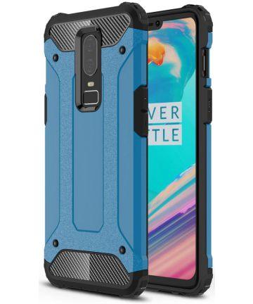 OnePlus 6 Hybride Hoesje Blauw
