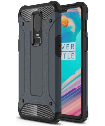 OnePlus 6 Hybride Hoesje Donker Blauw
