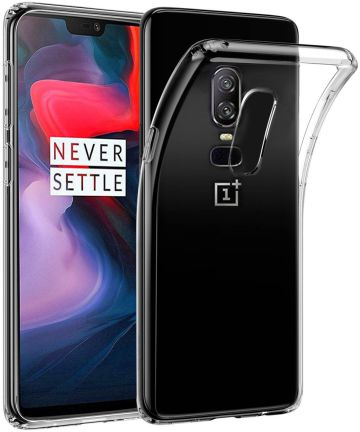OnePlus 6 Hoesje Dun TPU Transparant Hoesjes