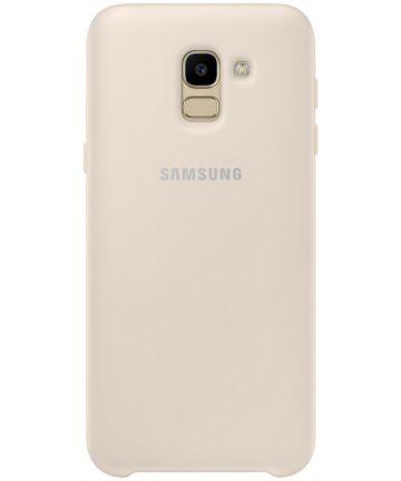 Originele Samsung Galaxy J6 (2018) Dual Layer Cover Goud Hoesjes