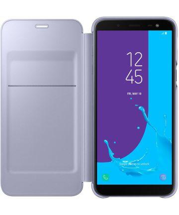 Samsung Galaxy J6 (2018) Wallet Cover Violet Hoesjes