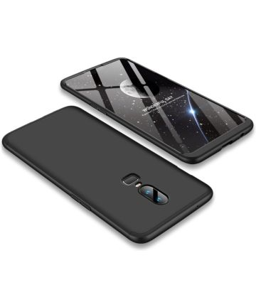 OnePlus 6 Matte Back Cover Zwart Hoesjes