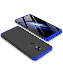 OnePlus 6 Matte Back Cover Zwart Blauw