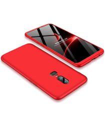 OnePlus 6 Hoesje Dunne Hard Plastic Back Cover Matte Rood