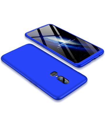 OnePlus 6 Matte Back Cover Blauw Hoesjes