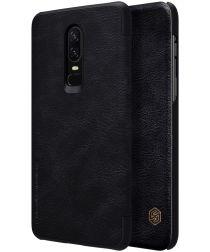 Nillkin Qin Series Flip Hoesje OnePlus 6 Zwart
