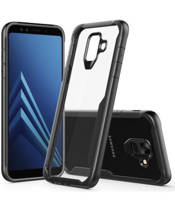 Samsung Galaxy A6 Hybride Transparant Hoesje Zwart