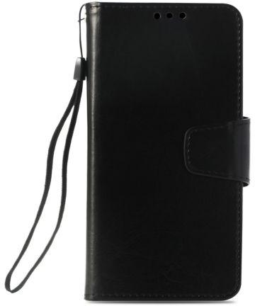 Nokia 6 (2018) Luxe Portemonnee Hoesje Zwart Hoesjes