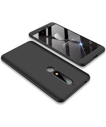 Nokia 6 (2018) Matte Back Cover Zwart