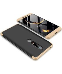 Nokia 6 (2018) Matte Back Cover Goud Zwart