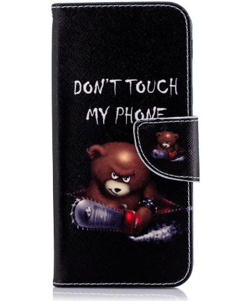 Samsung Galaxy A6 Portemonnee Hoesje met Teddy Print