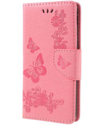 Samsung Galaxy A6 Vlinder Portemonnee Hoesje Roze Hoesjes