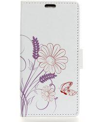 Samsung Galaxy A6 Portemonnee Hoesje met Bloem Print