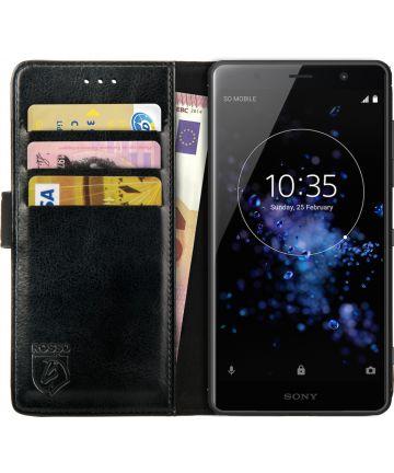 Rosso Element Sony Xperia XZ2 Premium Hoesje Book Cover Zwart