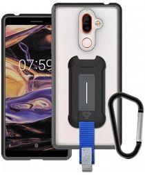 Armor X BX-Series Nokia 7 Plus Robuust Hoesje Transparant Zwart