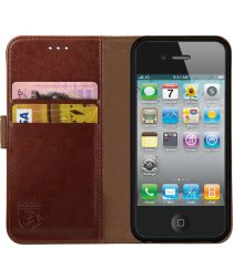 Rosso Element Apple iPhone 4 / 4S Hoesje Book Cover Bruin