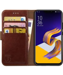 Rosso Element Asus ZenFone 5Z / 5 Hoesje Book Cover Bruin