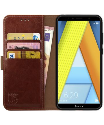Rosso Element Honor 7A Hoesje Book Cover Bruin Hoesjes