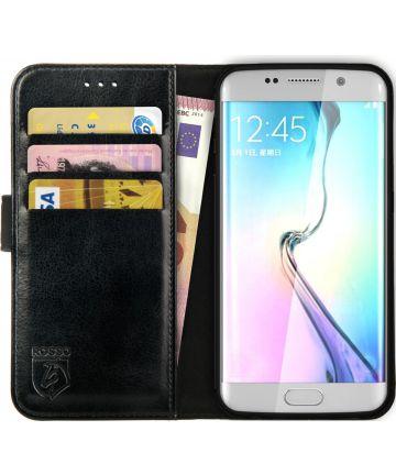 Rosso Element Samsung Galaxy S6 Edge Hoesje Book Cover Zwart