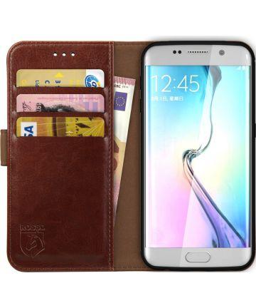 Rosso Element Samsung Galaxy S6 Edge Hoesje Book Cover Bruin Hoesjes