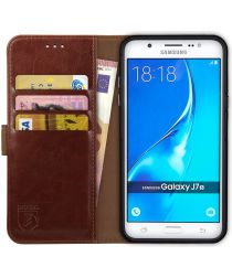 Rosso Element Samsung Galaxy J7 2016 Hoesje Book Cover Bruin