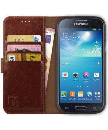 Rosso Element Samsung Galaxy S4 Mini Hoesje Book Cover Bruin