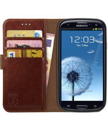 Rosso Element Samsung Galaxy S3 Hoesje Book Cover Bruin