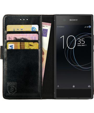 Rosso Element Sony Xperia XA1 Hoesje Book Cover Zwart Hoesjes