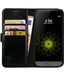 Rosso Element LG G5 Hoesje Book Cover Zwart