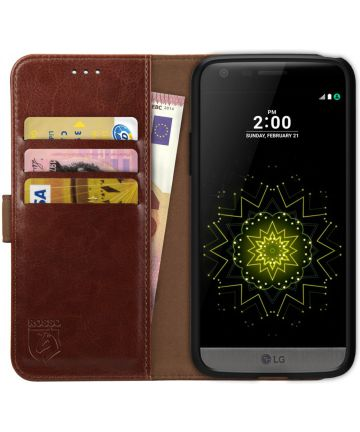 Rosso Element LG G5 Hoesje Book Cover Bruin Hoesjes