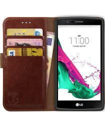 Rosso Element LG G4 Hoesje Book Cover Bruin