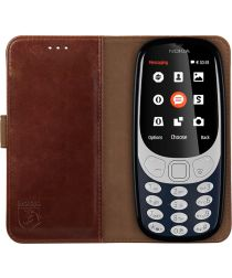 Rosso Element Nokia 3310 (2017) Hoesje Book Cover Bruin
