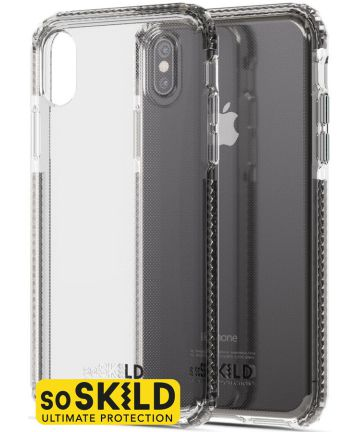 SoSkild iPhone XS / X Transparant Hoesje Defend Heavy Impact Backcover Hoesjes