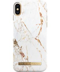iDeal of Sweden iPhone XS / X Fashion Hoesje Carrara Gold