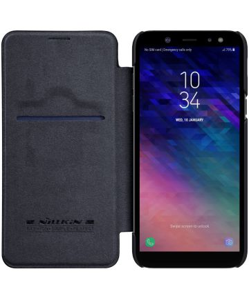 Nillkin Qin Series Flip Hoesje Samsung Galaxy A6 Zwart Hoesjes