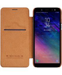 Nillkin Qin Series Flip Hoesje Samsung Galaxy A6 Bruin