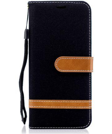 Samsung Galaxy A6 Portemonnee Hoesje Zwart