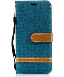 Samsung Galaxy A6 Portemonnee Hoesje Groen