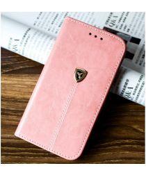 Apple iPhone 5(S) / SE Luxe Portemonnee Hoesje Roze