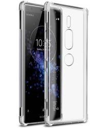 Sony Xperia XZ2 Premium TPU Hoesje met Display Folie Transparant