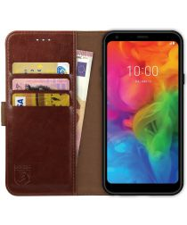 Rosso Element LG Q7 Hoesje Book Cover Bruin