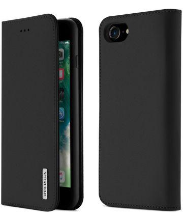Dux Ducis Luxe Book Case Apple iPhone 8 / 7 / SE 2020 Echt Leer Zwart Hoesjes