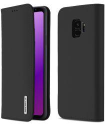 Dux Ducis Luxe Book Case Samsung Galaxy S9 Hoesje Echt Leer Zwart
