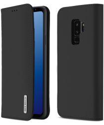 Dux Ducis Luxe Book Case Samsung Galaxy S9 Plus Hoesje Echt Leer Zwart